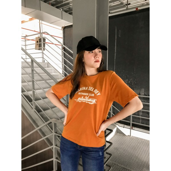 Marina Del Rey Graphic Tee in Orange
