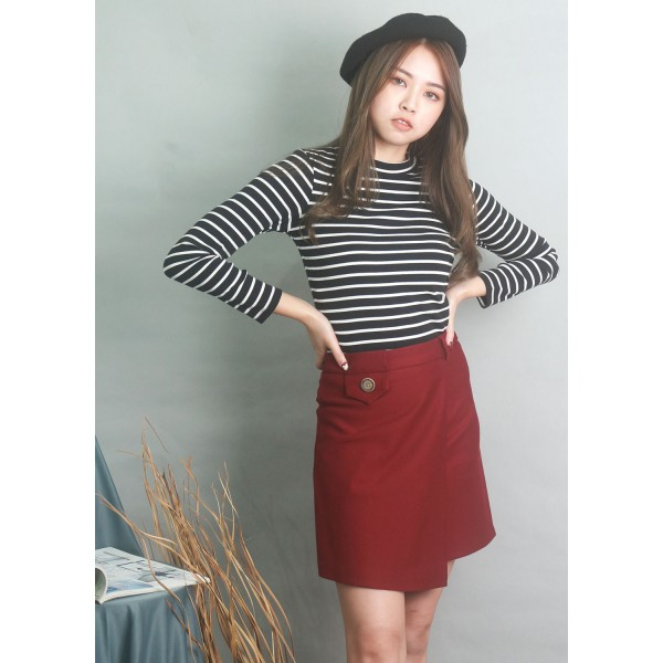 Front Wrap A-Line Skirt