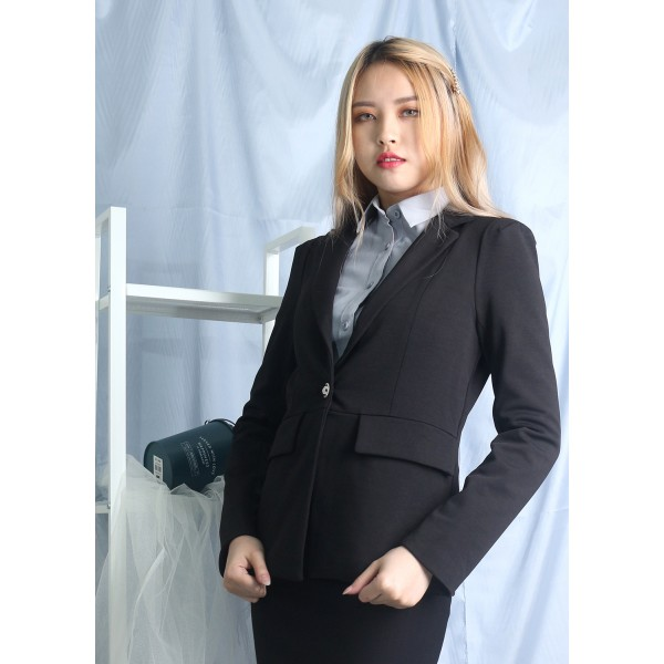 Notched Collar Pocket Blazer