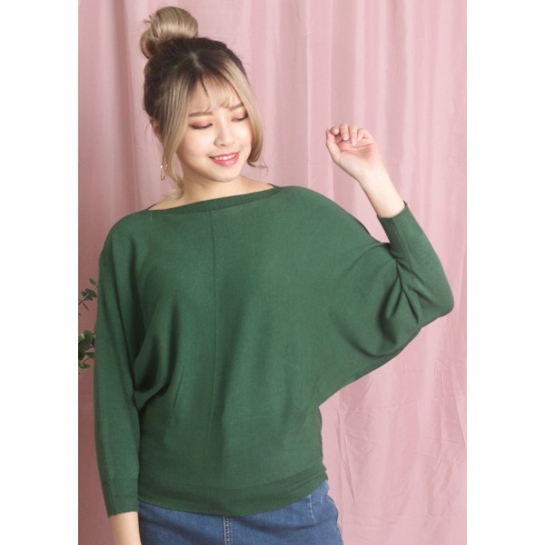 Dolman Long Sleeve Knitted Top